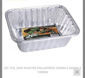 2pc foil deep roaster