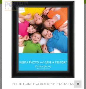 PHOTO FRAMES (BLACK 20*5CM)